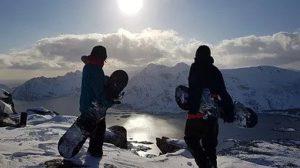 Skiing in lofoten