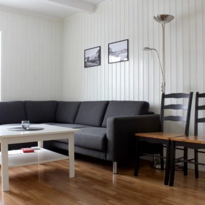 Fishermen cabin living room in Lofoten