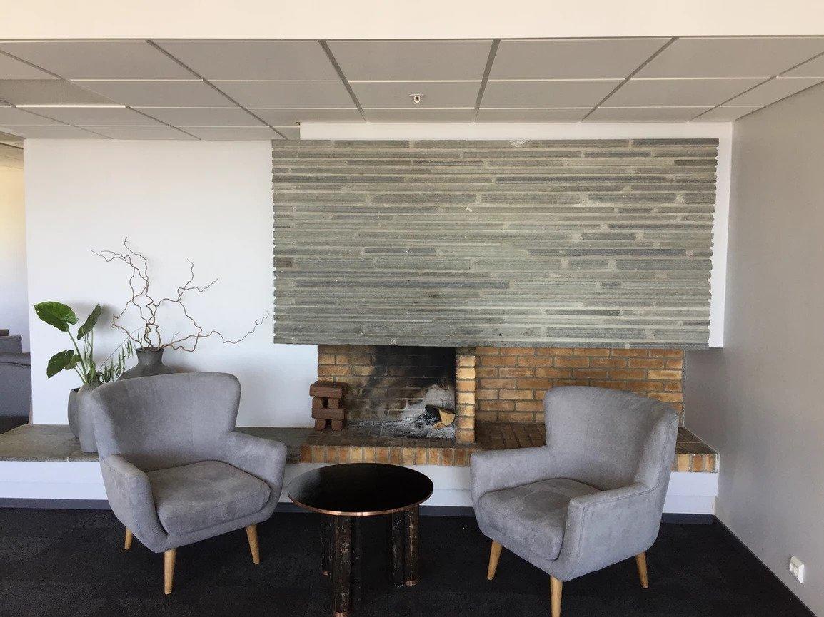 Fireplace at Live Lofoten hotel
