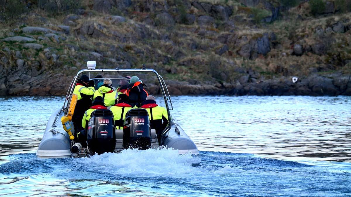 Turists going on activity in Lofoten